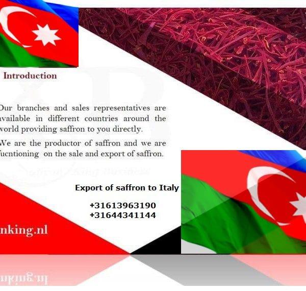 صادرات زعفران به جمهوری آذربایجان