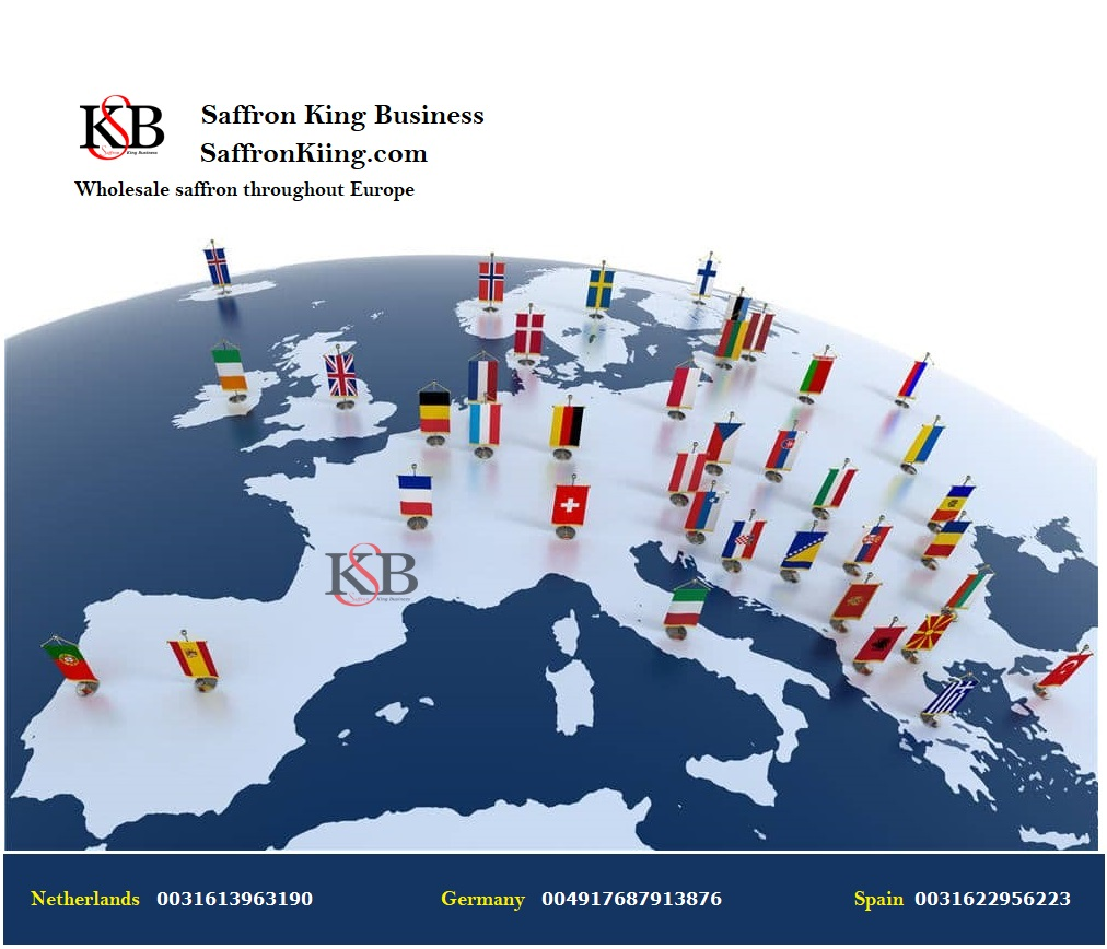 قیمت زعفران در اروپا و صادرات زعفران فله